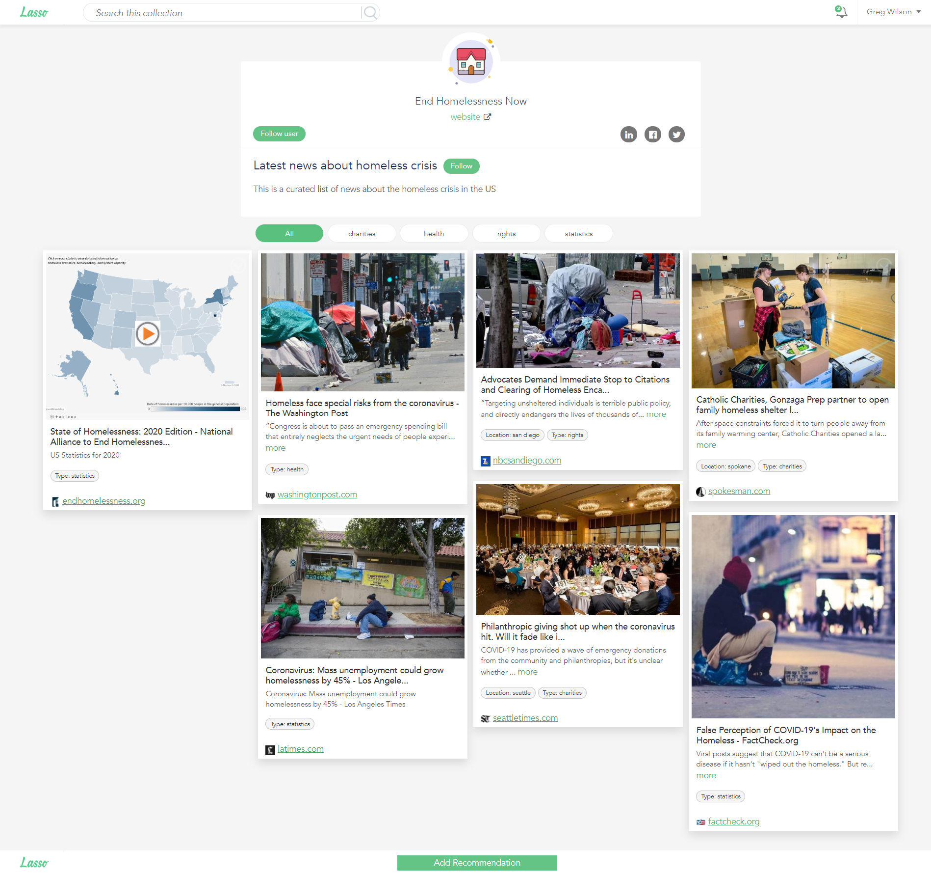 Quickly publish your curated content to your audience